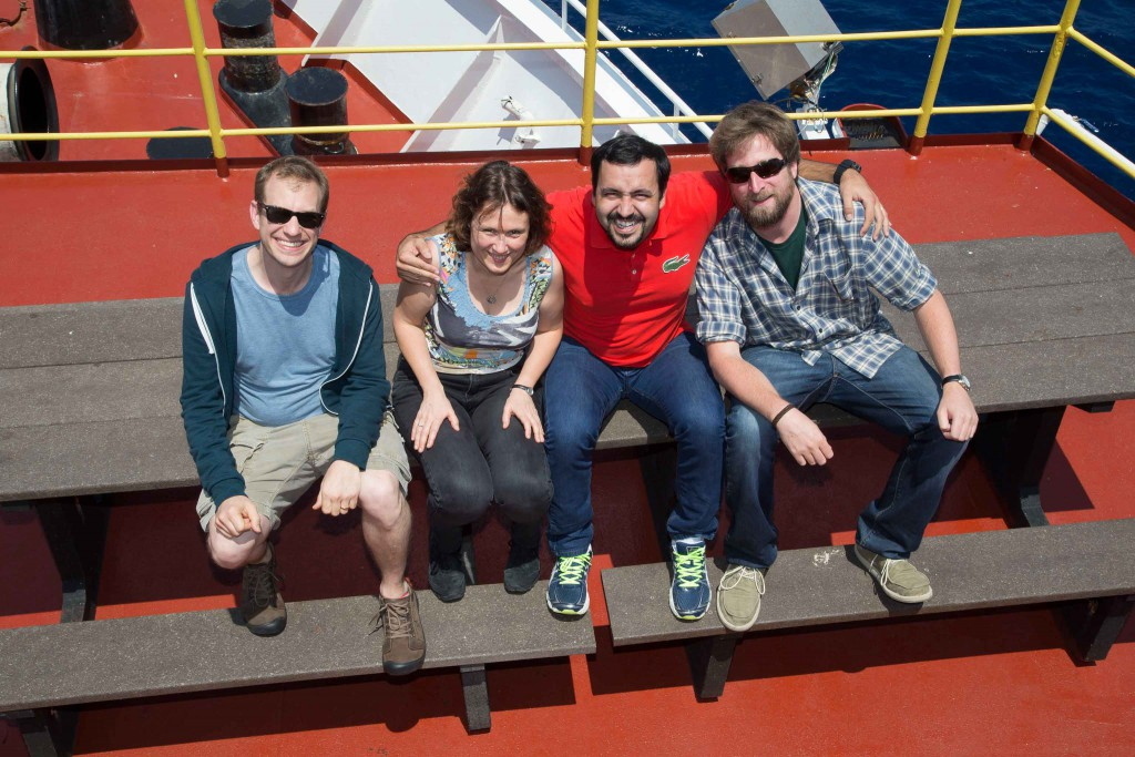 The Expedition 354 Paleomagnetic Team.  It was great working with Peter Selkin,  Laure Meynadier, and Jairo Savian.
