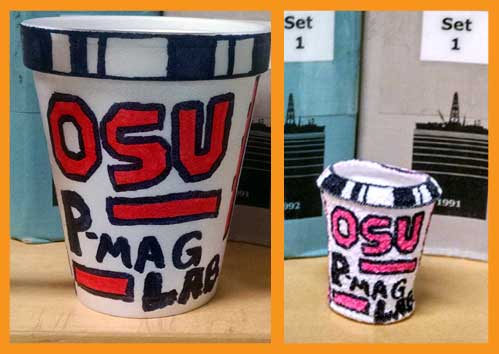 The incredible shrinking cup!  OSU P-mag Lab at 3600m below sea level.