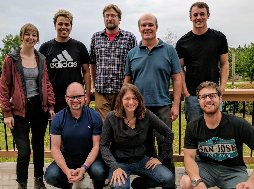 Oregon State's P-mag Group (back) Katharine Soloda, Nick Lavoie, Brendan Reilly, Joe Stoner, Ben Wheeler (front) Rob Hatfield, Mo Walczak, Ben Freiberg